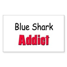 Blue Shark Addict Rectangle Decal