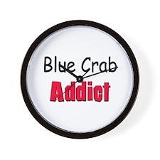 Blue Crab Addict Wall Clock