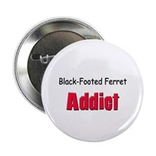 "Black-Footed Ferret Addict 2.25"" Button"