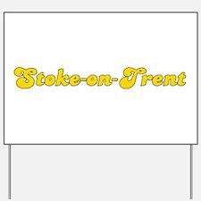 Retro Stoke-on-Trent (Gold) Yard Sign