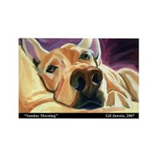 Sunday Morning painting Rectangle Magnet (100 pack