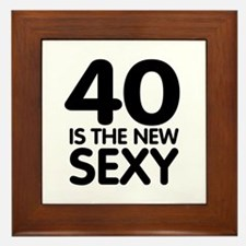 40 is the new sexy Framed Tile