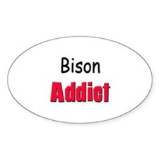 Bison Addict Oval Decal