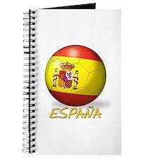 Espana Flag Soccer Ball Journal