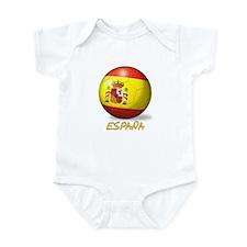 Espana Flag Soccer Ball Infant Bodysuit