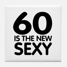60 is the new sexy Tile Coaster
