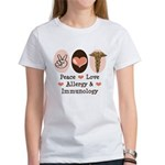 Peace Love Allergy Immunology Doctor TShirt