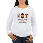 Peace Love Allergy and Immunology Long Sleeve Tee