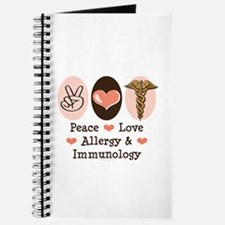 Peace Love Allergy Immunology Doctor Journal