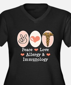 Peace Love Allergy Immunology Doctor Women's Plus