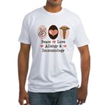 Peace Love Allergist Immunologist Fitted T-Shirt
