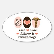 Peace Love Allergy Immunology Doctor Decal