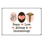Peace Love Allergy Immunology Doctor Banner
