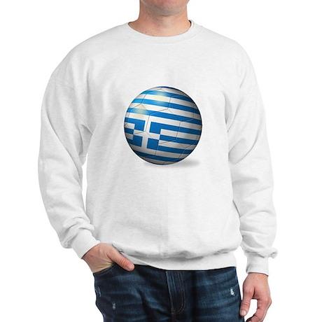 Greece Flag Soccer Ball Sweatshirt