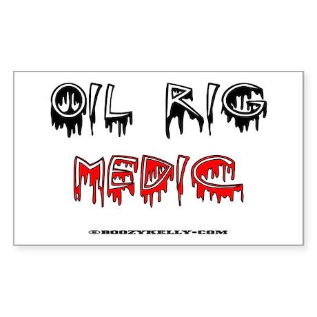 Oil Rig Medic Rectangle Sticker