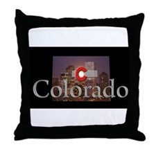 Cute Colorado nights Throw Pillow