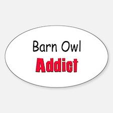 Barn Owl Addict Oval Decal