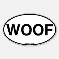 Euro Oval WOOF Oval Decal
