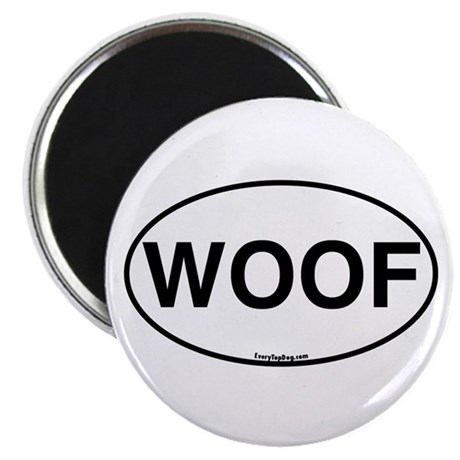 Euro Oval WOOF Magnet