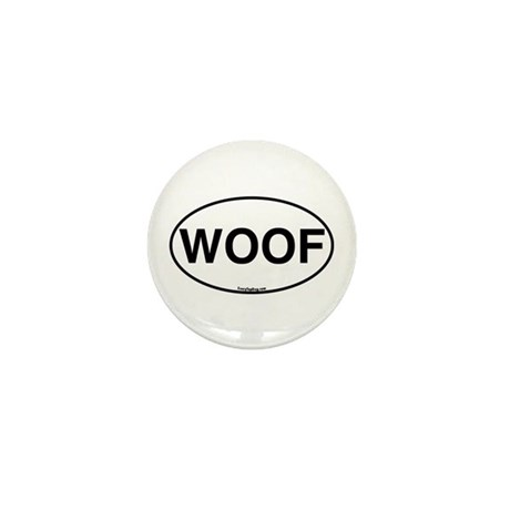 Euro Oval WOOF Mini Button