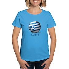 Ellada Flag Soccer Ball Tee