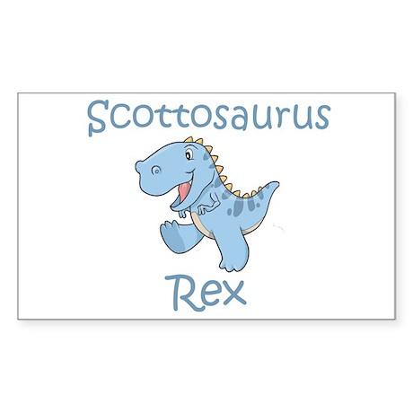 Scottosaurus Rex Rectangle Sticker