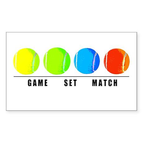 GAME SET MATCH Rectangle Sticker