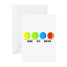GAME SET MATCH Greeting Cards (Pk of 10)
