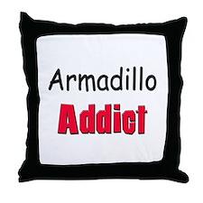 Armadillo Addict Throw Pillow