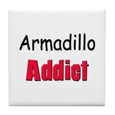 Armadillo Addict Tile Coaster