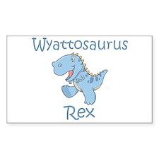 Wyattosaurus Rex Rectangle Decal
