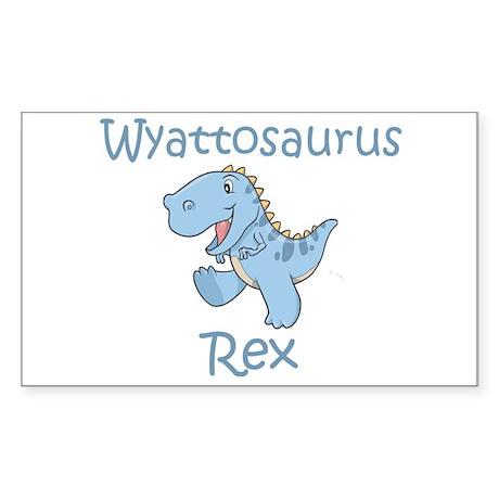 Wyattosaurus Rex Rectangle Sticker