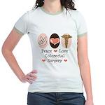 Peace Love Colorectal Surgery Jr. Ringer T-Shirt