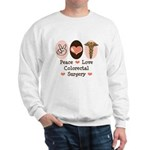 Peace Love Colorectal Surgery Sweatshirt