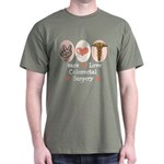 Peace Love Colorectal Surgery Dark T-Shirt