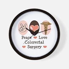Peace Love Colorectal Surgery Wall Clock
