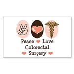 Peace Love Colorectal Surgery Sticker 10 Pack