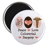 Peace Love Colorectal Surgery Magnet