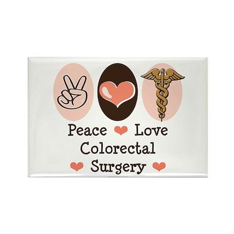 Peace Love Colorectal Surgery Rectangle Magnet (10