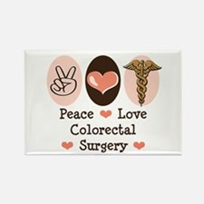 Peace Love Colorectal Surgery Rectangle Magnet