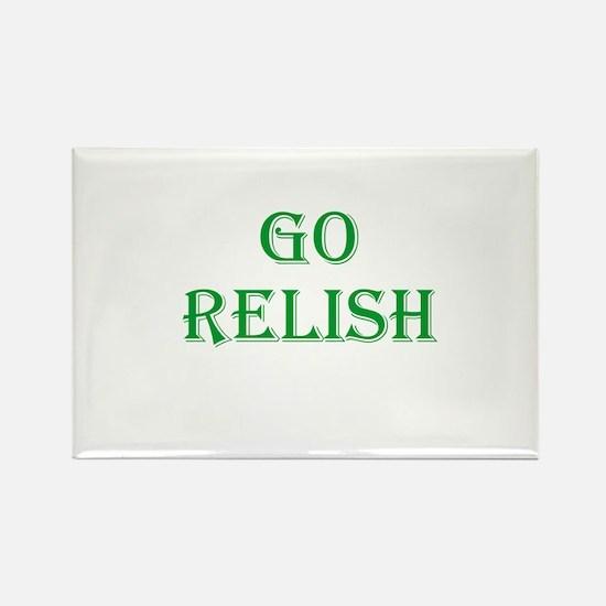 Go Relish Rectangle Magnet