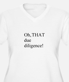 THAT Due Diligence! Women's Plus Size V-Neck Tee