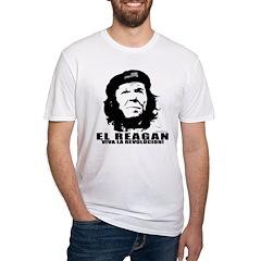 El Reagan Viva Revolucion Fitted T-Shirt
