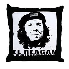 El Reagan Viva Revolucion Throw Pillow