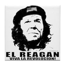 El Reagan Viva Revolucion Tile Coaster