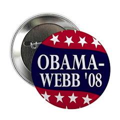 "Obama-Webb '08 2.25"" Button"