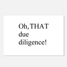 THAT due diligence! Postcards (Package of 8)