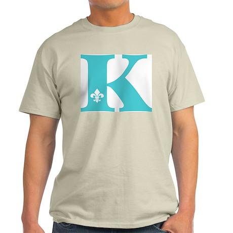 K Fleur Initial Light T-Shirt