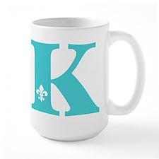 K Fleur Initial Mug