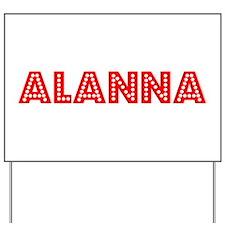 Retro Alanna (Red) Yard Sign